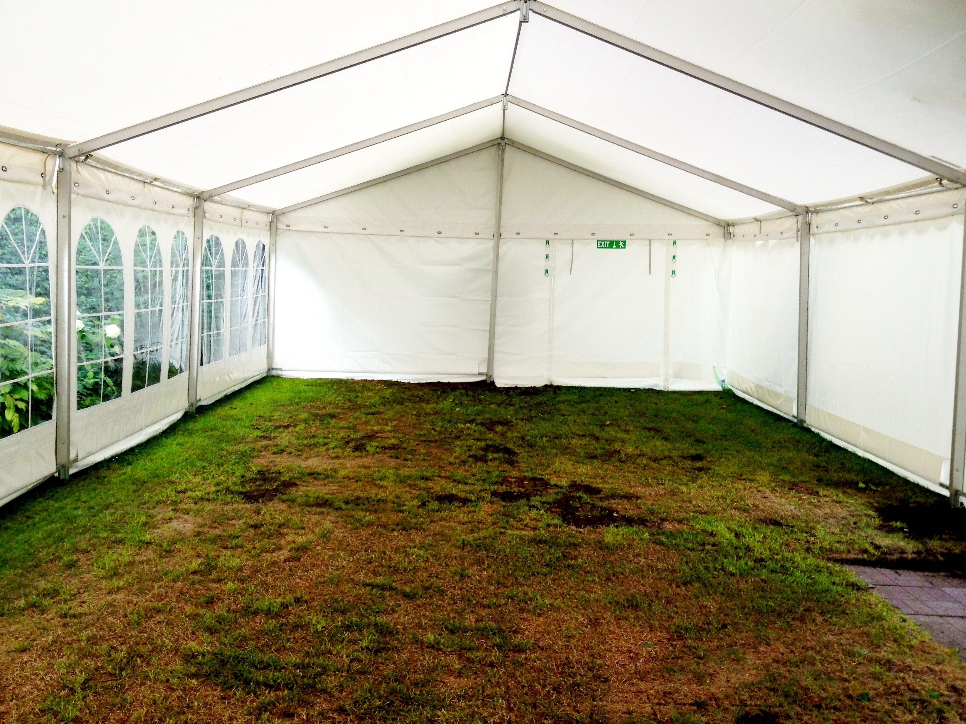 Lej 6x6 meter festtelt | Udlejning af telt til 24 36 personer